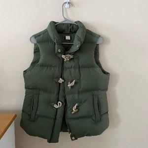 J Crew Green Vest